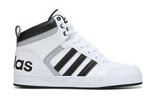 ADIDAS MENS NEO RALEIGH 9TIS HIGH TOP SNEAKER WHITE BLACK SHOES **FREE POST AUST
