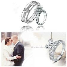 Wedding Engagement Opening Adjustable Eiffel Tower Finger Ring Crystal Couple