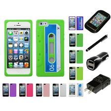 For Apple iPhone 5/5S/SE Silicone Skin Rubber Soft Case Phone Cover Charger