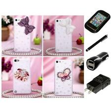 For Apple iPod Touch 5th 6th Gen Diamond Bling Rhinestone Case Cover Charger