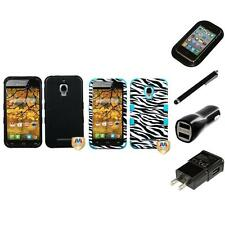 For Alcatel One Touch Fierce 7024W Hybrid TUFF IMPACT Case Cover Charger Stylus