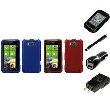 For HTC Titan X310a Snap-On Hard Case Phone Skin Cover Accessory Charger Stylus