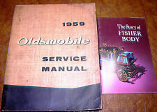 1959 Oldsmobile Service Shop Manual Holiday Super 88 98 Ninety Eight Fiesta