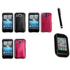 For HTC Inspire 4G Aluminum Armor Cosmo Slim Hard Case Phone Cover Mount+Pen