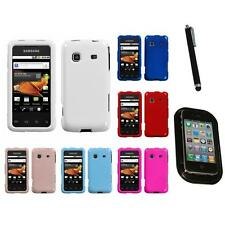 For Samsung Galaxy Prevail M820 Rigid Plastic Hard Snap-On Case Cover Mount+Pen