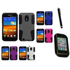 For Samsung Epic Touch 4G D710 Hybrid Rugged Impact Hard Soft Case Mount+Pen