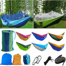 Outdoor Hanging Camping Swinging Hammock Beach Bed Mosquito Net Double/Single
