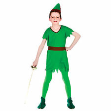 Boys Storybook Robin Hood Elf Halloween Fancy Dress Up Party Costume Outfit New
