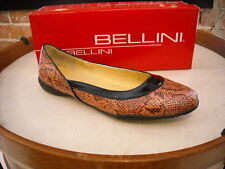 Bellini Jacklyn PINK & BLACK Snake Ballet Flats NEW