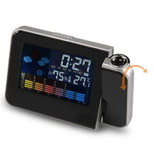 LCD Digital LED Projector Projection Alarm Clock Snooze Light Home Party Decor _
