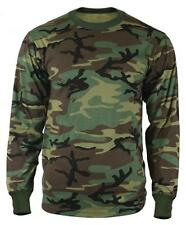 Traditional Woodland Camo LONG SLEEVE T-Shirt Army Marine Corps USMC L/S S-5X