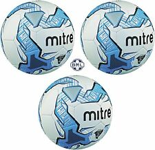 3 x MITRE IMPEL TRAINING FOOTBALLS - WHITE/BLUE - Sizes 3, 4 and 5