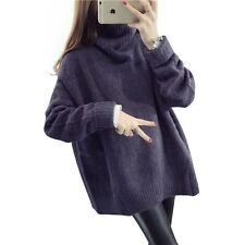 H.SA 2016 Sweaters Women Winter Jumpers Turtleneck Oversized Sweater Knitted Bur