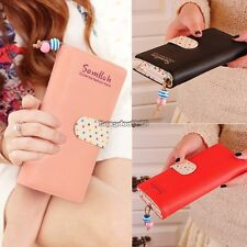 fashion lady women long purse clutch wallet high quality zip bag card holder ED