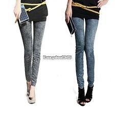 Sexy Women Jeggings Stretch Skinny Leggings Jeans Pencil Pants Snowflake ED