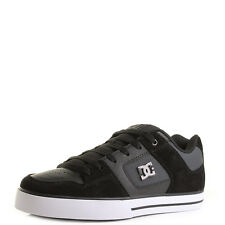Mens DC Shoes Pure SE Black Dark Grey Low Top Skate Trainers UK Size
