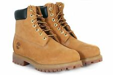 "Timberland Men's Classic 6"" Premium Nubuck Leather Lace-Up Boots Wheat 10061"