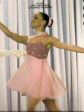 BALLET DANCE COSTUME LYRICAL SKATE  LIFE THROUGH ROSE COLORED GLASSES