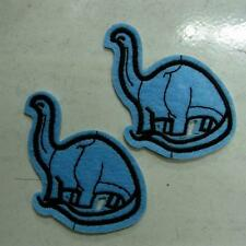 2 Dragon Dinosaur Iron Sew on Patch Embroidered Applique Biker Badge Cute Baby