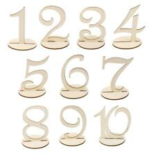 Wood Round free Standing Wood Table Numbers Wedding Party Table Decor