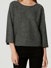 Ann Taylor LOFT Speckled Sweater Top Size X-Small NWT Black Speckle Color