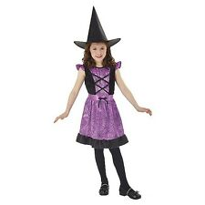 NEW KIDS GIRLS TOTALLY GHOUL PURPLE SPIDER WEB WITCH HALLOWEEN COSTUME SZ LARGE