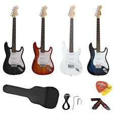New ST Full Size Electric Guitar for Beginners+ Gig Bag Picks Strap USA Deliver