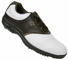 FootJoy GreenJoy Golf Shoes 45521 White/Brown Mens CLOSEOUTS New