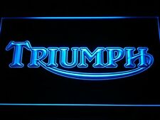 Triumph Motorcycles Services Repairs LED Neon Sign Blue Red