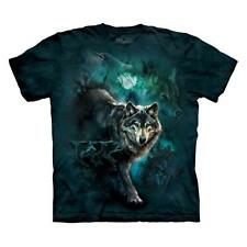 NIGHT WOLVES COLLAGE ADULT T-SHIRT THE MOUNTAIN