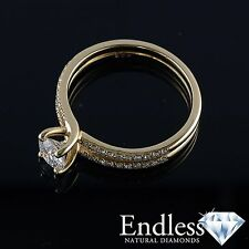 1.28 CT Certified Diamond Engagement Ring 14k Solid Gold Size 7 VS/G-H Enhanced