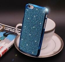 Bling Swarovski Element Crystal Diamond Blue Soft case For iphone 6 6s {zj142