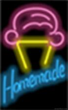 Homemade Ice Cream Cone Genuine Neon Sign JANTEC USA  Fast Free Shipping