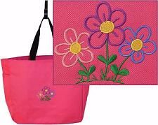 Cartoon Flower Garden Monogram Custom Embroidered Gardening Essential Tote NWT
