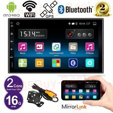 AUTORADIO Doppio 2DIN BLUETOOTH GPS MP5 USB ANDROID 5.1 QUADCORE WIFI + Camera
