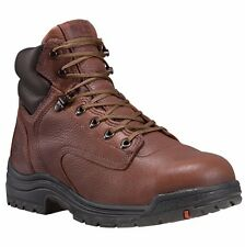 "TIMBERLAND PRO Men's 26063214 6"" Titan Coffe Full-Grain Alloy Toe Work Boot"