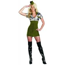 Army Girl Costume Adult Sexy Soldier Halloween Fancy Dress