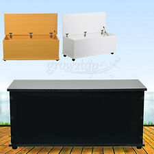 Large Wooden Ottoman Storage Chest Trunk Toy Boxes Cabinet Footstools with Lid