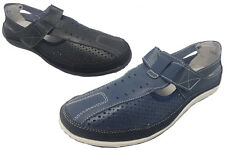Ladies Shoes Leather Wild Sole Calm Black or Navy Lifestyle Shoe Size 6-10 comfy