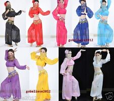 Brand New Sexy Belly Dance Costume Set 2PCS:Top & Pants 9 Colors Free Shipping