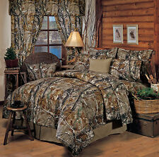 REALTREE AP CAMO CAMOUFLAGE BEDDING COMFORTER SET - SHAMS, SKIRT