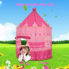 Portable Pink Pop Up Play Tent Kids Girl Princess Castle Outdoor Play House M4C6