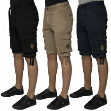 "Mens Casual Branded Combat Pocket Shorts by Santa Monica Polo Club Sizes 30""-38"""