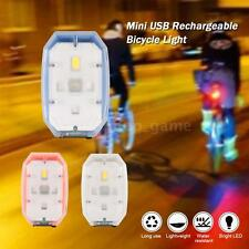 Mini Compact Bike Cycling Bicycle Light USB Rechargeable LED Front Light I5Y9