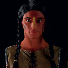 MENS INDIAN FANCY DRESS COSTUME OUTFIT & NATIVE AMERICAN RED FACE PAINT MAKE UP