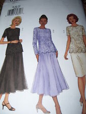 BUTTERICK #6929 - LADIES LACE COCKTAIL TOP & TWO STYLE SKIRT PATTERN  8-24  FF