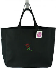 Pretty Heart Flower Valentine's Day Love Custom Embroidered Essential Tote Bag