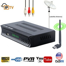 HD DVB-S2 Digital Satellite Receiver With Wifi Internet IPTV Channel Combo Video
