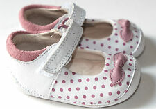 Clarks Ida Dotty baby girls White/Pink Leather first shoes 2/17.5 RRP £25