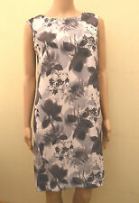 New Next Purple Pink Floral Tailored Shift Dress Sz UK 10 12 16  rrp £45